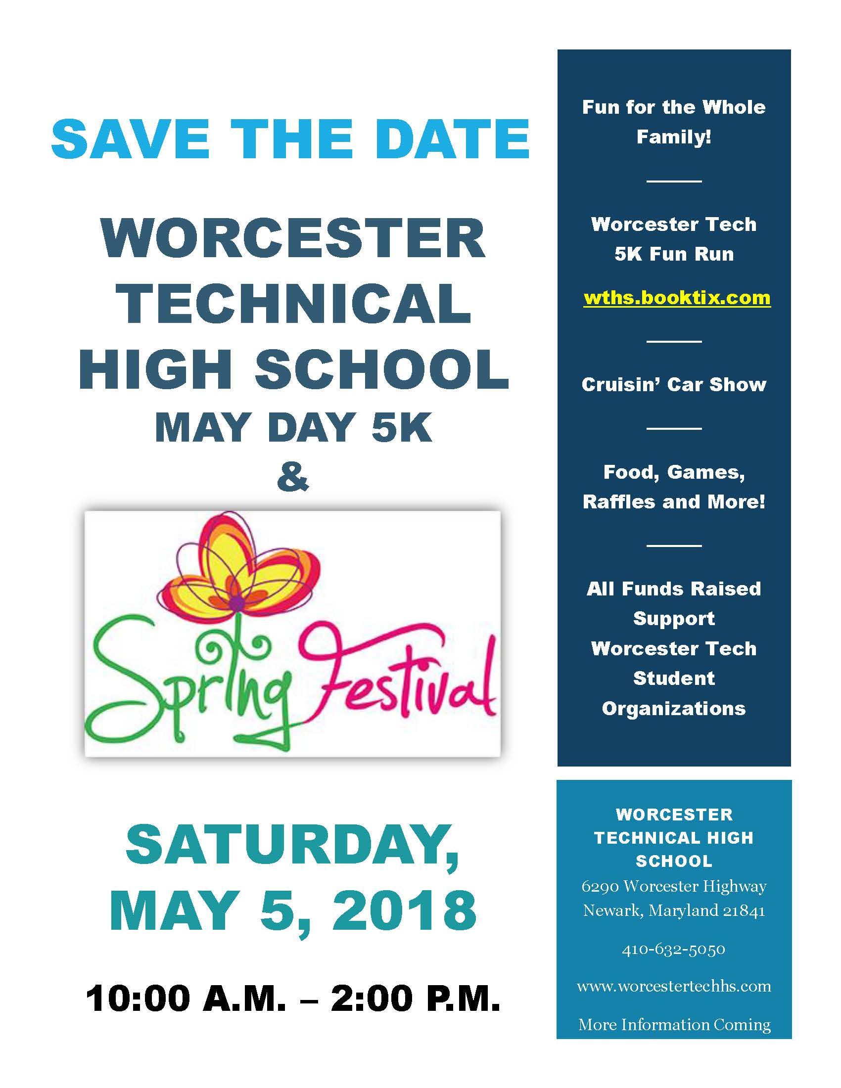 spring festival 2018 save the date flyer worcester technical high
